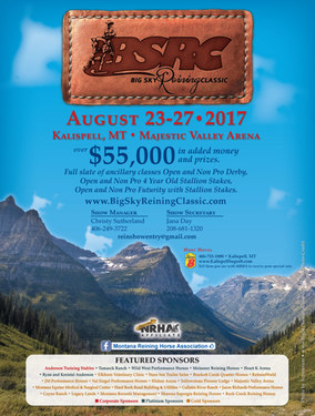 Big Sky Reining Classic  ~ Entry Forms